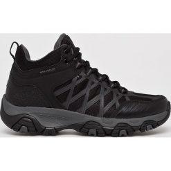 Skechers - Buty. Czarne buty trekkingowe męskie Skechers, z materiału, outdoorowe. Za 259,90 zł.