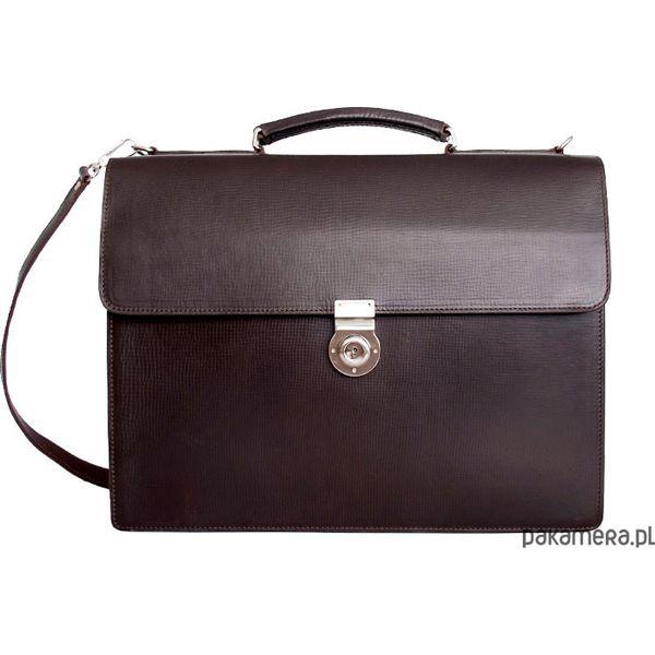 2a997eb4bc2c6d Teczka torba na ramię KRONOS 2 brąz - Czarne torby męskie skórzane  Pakamera, bez wzorów, ze skóry, bez dodatków. Za 545,00 zł.