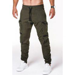 Spodnie męskie: SPODNIE MĘSKIE JOGGERY P706 – KHAKI