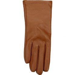 Rękawiczki damskie. Brązowe rękawiczki damskie marki Gino Rossi, z materiału. Za 109,90 zł.
