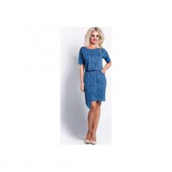 Sukienka gillyflower jeans. Niebieskie sukienki asymetryczne Cocoviu, do pracy, xl, z jeansu, biznesowe, z asymetrycznym kołnierzem. Za 69,00 zł.