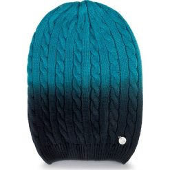 Czapka GUESS - Not Coordinated Wool AW6480 WOL01 M  BLU. Czarne czapki zimowe damskie Guess, z aplikacjami, z materiału. W wyprzedaży za 119,00 zł.