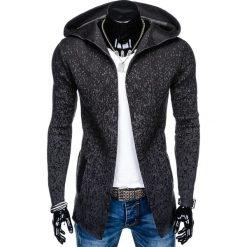 SWETER MĘSKI NARZUTKA Z KAPTUREM E124 - GRAFITOWY. Czarne swetry klasyczne męskie marki Reserved, m, z kapturem. Za 69,00 zł.