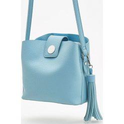 Torebki worki: Torebka typu worek z ozdobnym chwostem - Niebieski