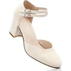 Buty ślubne damskie: Czółenka z paskiem bonprix beżowo-piaskowy