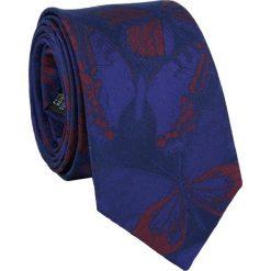 Krawat jedwabny KW000065. Niebieskie krawaty męskie Giacomo Conti, z jedwabiu. Za 129,00 zł.