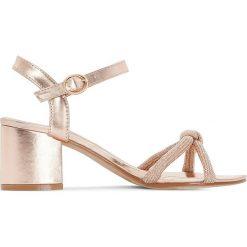 Rzymianki damskie: Sandały z paskami ze sznurka z cekinami