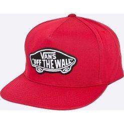 Vans - Czapka. Czerwone czapki z daszkiem męskie marki Vans, z bawełny. Za 119,90 zł.