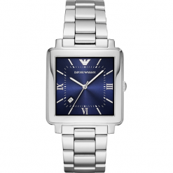 Zegarek EMPORIO ARMANI - Modern Squre AR11072  Silver/Silver. Szare zegarki męskie Emporio Armani. Za 1059,00 zł.