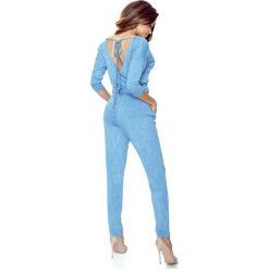 Rio – Kombinezon z ozdobnymi wiązaniami jeansowy niebieski. Niebieskie kombinezony damskie Bergamo, z jeansu. Za 129,00 zł.