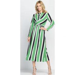 Sukienki hiszpanki: Zielono-Czarna Sukienka Pretty Girls