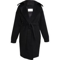Mint&berry Płaszcz wełniany /Płaszcz klasyczny black. Czarne płaszcze damskie pastelowe mint&berry, z materiału, klasyczne. W wyprzedaży za 384,30 zł.
