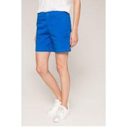 Tommy Jeans - Szorty. Szare szorty jeansowe damskie marki Tommy Jeans, casualowe. W wyprzedaży za 239,90 zł.