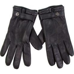 Rękawiczki Męskie UGG - M Leather Belted Glove 17455 Black. Czarne rękawiczki męskie Ugg, ze skóry. Za 519,00 zł.