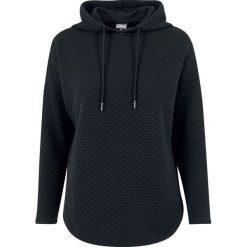 Urban Classics Ladies Quilt Oversize Hoody Bluza z kapturem damska czarny. Czarne bluzy z kapturem damskie Urban Classics, m, z krótkim rękawem, krótkie. Za 99,90 zł.