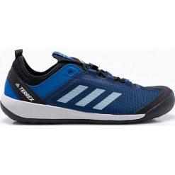 Adidas Performance - Buty Terrex Wsift Solo. Niebieskie buty trekkingowe męskie marki adidas Performance, z materiału, na sznurówki, outdoorowe. W wyprzedaży za 349,90 zł.