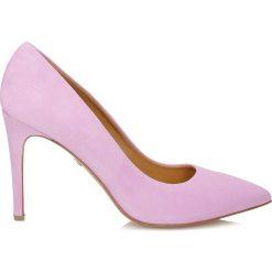 Buty ślubne damskie: Liliowe czółenka damskie