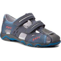 Sandały BARTEK - 19682-1-0NY Niebieski. Niebieskie sandały męskie skórzane marki Bartek. W wyprzedaży za 209,00 zł.