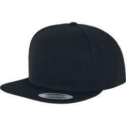 Yupoong Organic Cotton Snapback Czapka Snapback czarny. Czarne czapki z daszkiem damskie Yupoong, z tworzywa sztucznego. Za 69,90 zł.