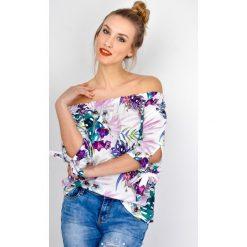 Bluzki asymetryczne: Bluzka hiszpanka w kwiaty