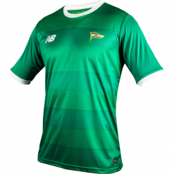 Koszulka Jr Lechia Gdańsk - EJT7008JGG. Zielone koszulki do piłki nożnej męskie marki New Balance, na jesień, l, z materiału. W wyprzedaży za 89,99 zł.