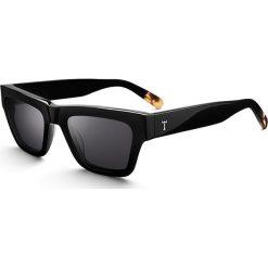 """Okulary przeciwsłoneczne """"Midnight Sean"""" w kolorze czarnym. Brązowe okulary przeciwsłoneczne damskie lenonki marki Triwa, z tworzywa sztucznego. W wyprzedaży za 259,95 zł."""