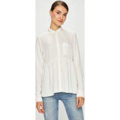 Review - Koszula. Szare koszule damskie marki Review, l, z tkaniny, z okrągłym kołnierzem. Za 149,90 zł.