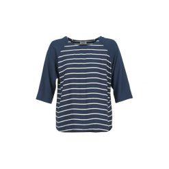Bluzki Tommy Jeans  NATEIRA. Niebieskie bluzki na imprezę Tommy Jeans, l, z jeansu. Za 279,20 zł.