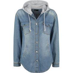 Forplay Oversize Jeans Hemd Bluzka damska niebieski. Niebieskie bluzki asymetryczne Forplay, m, z denimu, z kapturem, z długim rękawem. Za 164,90 zł.