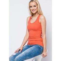 Bluzki damskie: Bluzka basic bokserka pomarańczowa