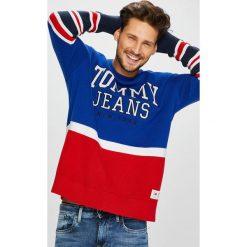 Tommy Jeans - Sweter DM0DM05072. Szare swetry klasyczne męskie Tommy Jeans, l, z jeansu. Za 499,90 zł.