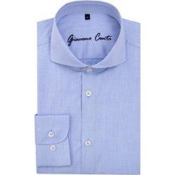 Koszula IGNAZIO slim KMN00009. Białe koszule męskie na spinki marki Giacomo Conti, m, z bawełny, z klasycznym kołnierzykiem. Za 259,00 zł.