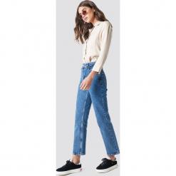 NA-KD Trend Jeansy Front Pleat - Blue. Niebieskie spodnie z wysokim stanem NA-KD Trend, z jeansu. Za 202,95 zł.