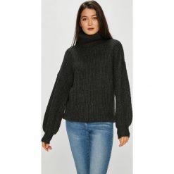 Noisy May - Sweter Gerda. Czarne swetry klasyczne damskie marki Noisy May, l, z dzianiny, z golfem. W wyprzedaży za 119,90 zł.