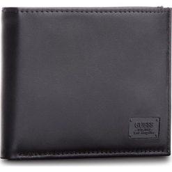 Duży Portfel Męski GUESS - SM2529 LEA27 BLA. Czarne portfele męskie Guess, z aplikacjami, ze skóry. W wyprzedaży za 179,00 zł.
