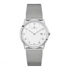 """Zegarek """"4460740"""" w kolorze srebrno-białym. Białe, analogowe zegarki męskie Dugena & Nautec No Limit, ze stali. W wyprzedaży za 359,95 zł."""