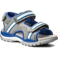 Sandały GEOX - J Borealis B. B J820RB 01050 C0069 S Grey/Royal. Szare sandały chłopięce marki Geox, z materiału. W wyprzedaży za 229,00 zł.