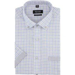 Koszula bexley 2766 krótki rękaw custom fit niebieski. Brązowe koszule męskie marki QUECHUA, m, z elastanu, z krótkim rękawem. Za 149,00 zł.
