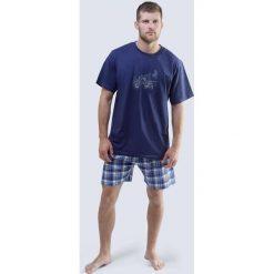 Piżamy męskie: Męska piżama Harley niebieska