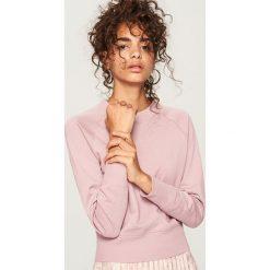 Bluza z bawełny organicznej - Fioletowy. Fioletowe bluzy damskie marki Reserved, l, z bawełny. Za 49,99 zł.