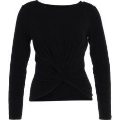 GAP TWIST FRONT  Bluzka z długim rękawem true black. Czarne bluzki damskie GAP, xs, z bawełny, z długim rękawem. Za 189,00 zł.