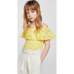 Bluzki dziewczęce bawełniane: Mango Kids - Top dziecięcy Mesonera 110-164 cm