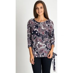 Bluzki damskie: Bluzka z orientalnym wzorem z wiązaniem QUIOSQUE