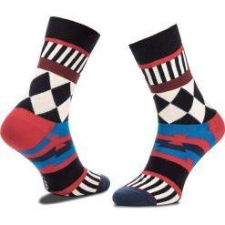 Skarpety Wysokie Unisex HAPPY SOCKS - DIT1001-4000 Granatowy Kolorowy. Niebieskie skarpetki męskie Happy Socks, w kolorowe wzory, z bawełny. Za 34,90 zł.