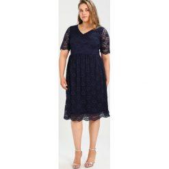 Sukienki hiszpanki: Evans V NECK FLARED DRESS Sukienka koktajlowa navy