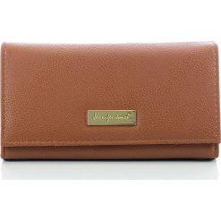 Portfele damskie: Elegancki portfel damski Jennifer Jones z biglem