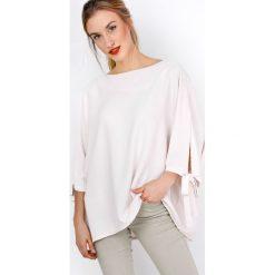 Bluzki damskie: Lużna bluzka koszulowa z wiązaniem
