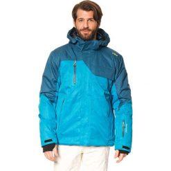 Kurtka narciarska w kolorze niebieskim. Niebieskie kurtki sportowe męskie CMP, m, narciarskie. W wyprzedaży za 521,95 zł.
