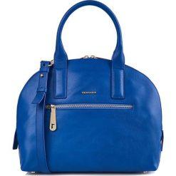 Torebki klasyczne damskie: Skórzana torebka w kolorze niebieskim – (S)32 x (W)27 x (G)9 cm
