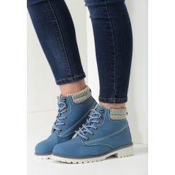 Granatowe Traperki Loved Enough. Niebieskie buty zimowe damskie vices. Za 89,99 zł.
